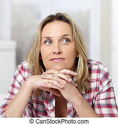 pensive woman square