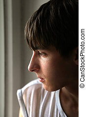 Pensive Young Man