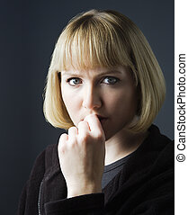 Pensive young woman