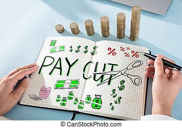 pensja, pojęcie, paycut
