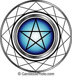 pentacle-, religieux, satanism, symbole