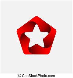 Pentagon Star Logo