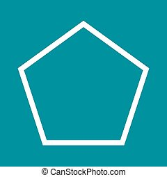 Pentagon, style, element icon vector image. Can also be used...