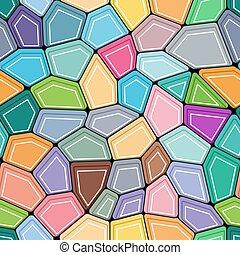 pentagon, wielobok, barwny, projektować, z, seamless, tło.