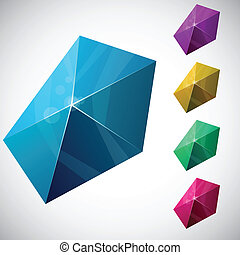 Pentagonal vibrant pyramid.
