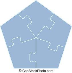 pentagone, concepts, endroit
