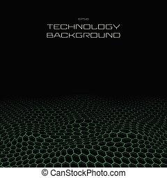 pentagono, età, fondo., prospettiva, modello, tecnologia ...