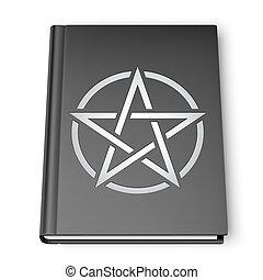 pentagram, 本, 黒