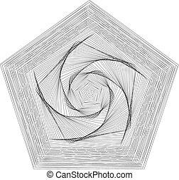 pentagram, Abstract geometric shapes