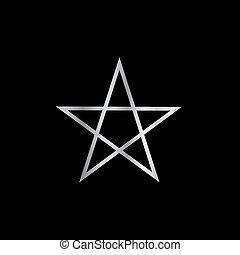 pentagram-, pobożny symbol, szatan