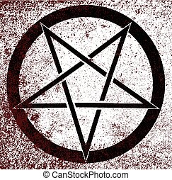 Pentagram - The five pointed pentagram over a white ...