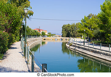 Pentakamaro Stone Bridge at Alykes, Zakynthos, Greece