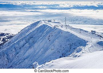 pente, recours, ski