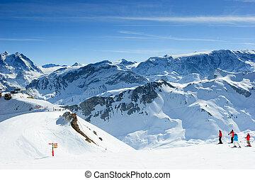 pente, ski