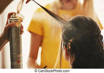 penteado, casório