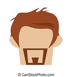 penteado, hipster, barba