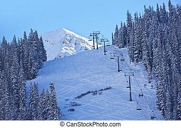 pentes, ski, colorado