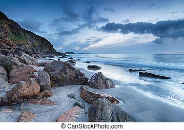 Pentewan on the Cornwall Coast