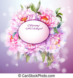 Peonies flowers background