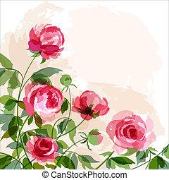 Peonies - Romantic background with peonies. EPS 10