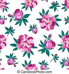 Peonies seamless pattern for printing on fabric, wallpaper, background to Mother s Day, by the eighth of March