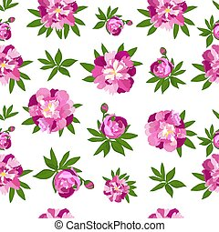 Peonies seamless pattern for printing on fabric, wallpaper to Mother's , Women's Day, for the design of wedding cards