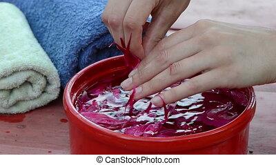 peonies water spa - remove fingers of peonies water spa...