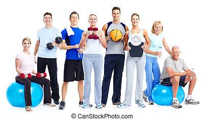 people., группа, фитнес
