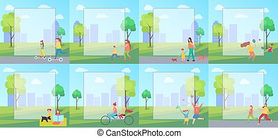 People and Filling Form on Vector Illustration - People...