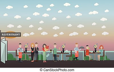 People and relations concept vector flat illustration