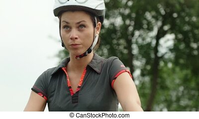 People and sport, girl on bike