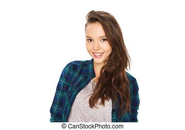 happy smiling pretty teenage girl