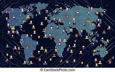 people are connected with whole world