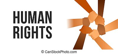 People arms unity for human Rights poster