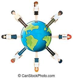 People around the globe