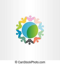 people around the world symbol