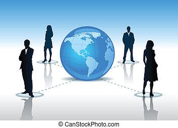 people around the world vector
