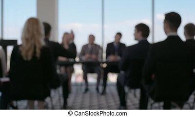 People at business seminar