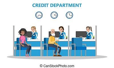 People at credit department.