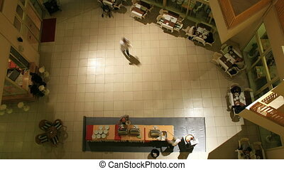 People at hotel restaurant timelapse