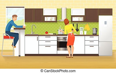 People At Kitchen Design