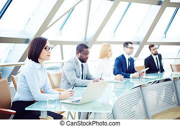 People at meeting