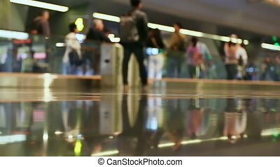 People at the airport in Doha 1