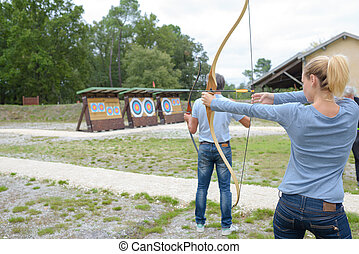 people at the archery club