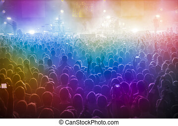 People at the concert