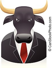 People Avatar Icons - Bull businessman