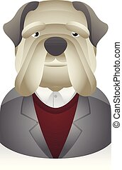 People Avatar Icons - Dog Businessman