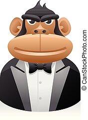 People Avatar Icons - Monkey Businessman