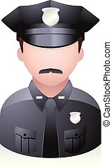 People Avatar Icons - Police officer