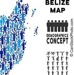 People Belize Map